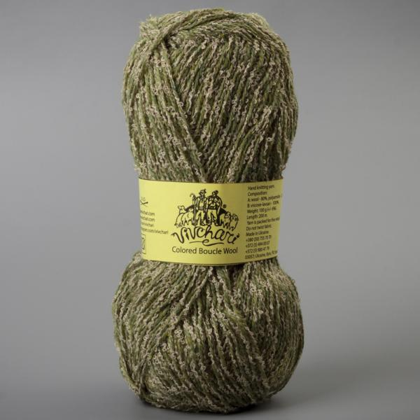 Vivchari Colored Boucle Wool беж букле, оливка 902