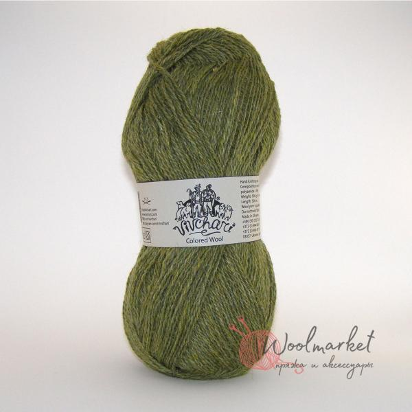 Vivchari Colored Wool светлая оливка 804