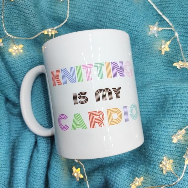 "Кружка ""Knitting is my cardio"""